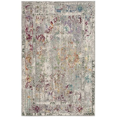 Lulu Rectangle Gray/Multi Area Rug Rug Size: Rectangle 4 x 6