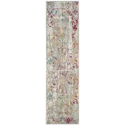 Lulu Rectangle Gray/Multi Area Rug Rug Size: Runner 23 x 8