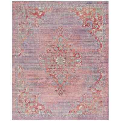 Bangou Lavender/Fuchsia Area Rug Rug Size: Rectangle 8 x 10