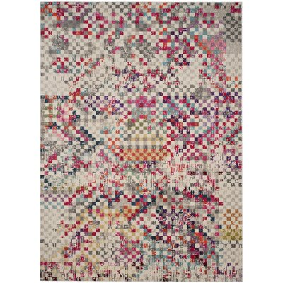Elston Grey/Multi Area Rug Rug Size: Rectangle 8 x 11