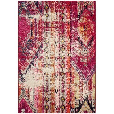 Elston Tibetan Pink Area Rug Rug Size: Rectangle 4 x 57