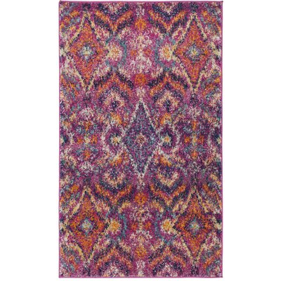 Loretta Fuchsia Area Rug Rug Size: Rectangle 3 x 5