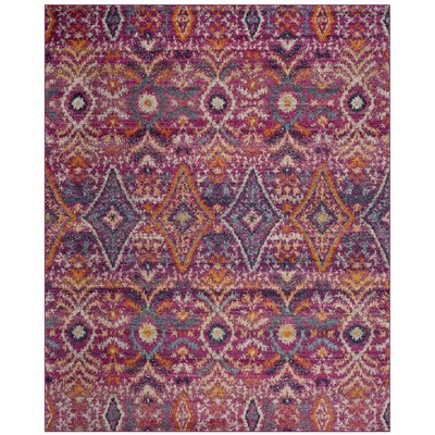 Loretta Fuchsia Area Rug Rug Size: Rectangle 8 x 10