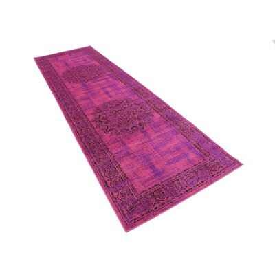 Neuilly Fuchsia/Purple Area Rug Rug Size: Runner 2 x 6