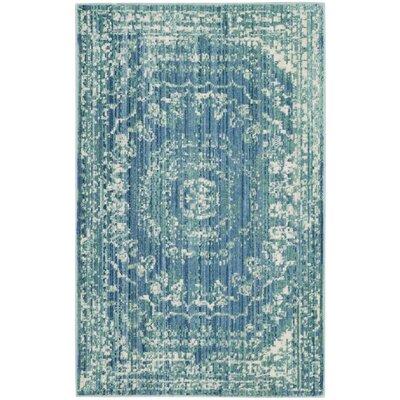 Doline Blue Area Rug Rug Size: Rectangle 2 x 3