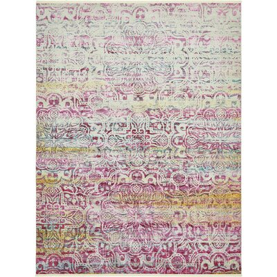 Regina Pink Area Rug Rug Size: Rectangle 55 x 8