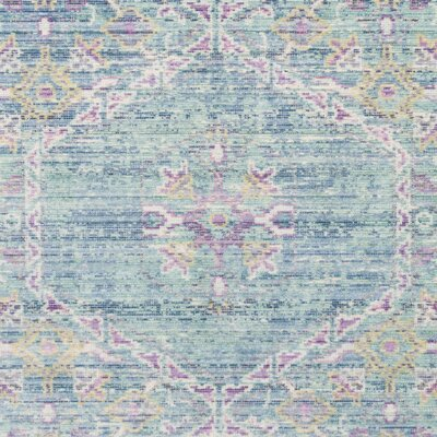 Bangou Blue/Purple Area Rug Rug Size: Square 6