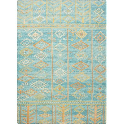 Wilkerson Sky Blue Area Rug Rug Size: Rectangle 5 x 7
