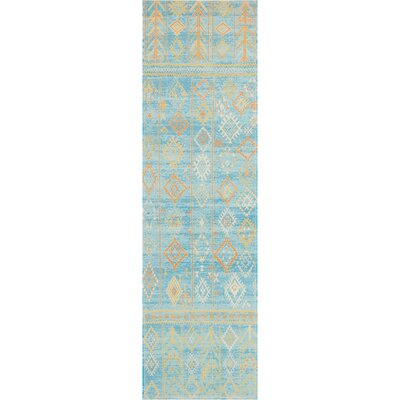 Wilkerson Sky Blue Area Rug Rug Size: Runner 22 x 76