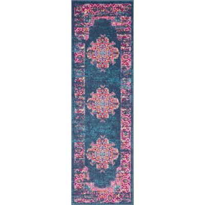 Wiggins Blue Area Rug Rug Size: Runner 11 x 6