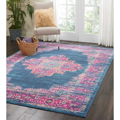 Dorset Blue Area Rug Rug Size: Rectangle 53 x 73
