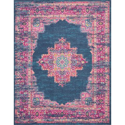 Wiggins Blue Area Rug Rug Size: Rectangle 8 x 10