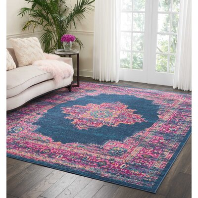 Dorset Blue Area Rug Rug Size: Rectangle 8 x 10