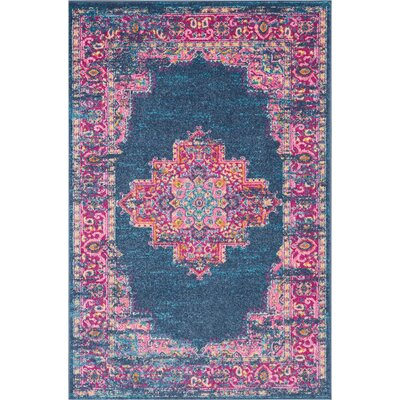 Wiggins Blue Area Rug Rug Size: Rectangle 39 x 59