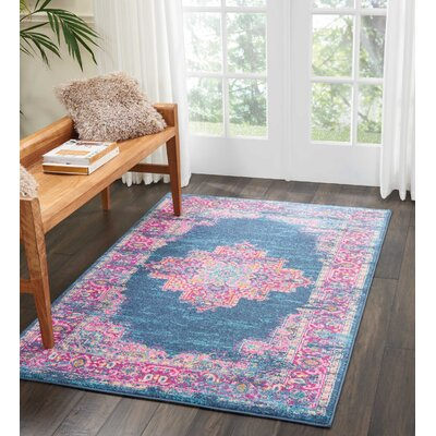 Dorset Blue Area Rug Rug Size: Rectangle 39 x 59