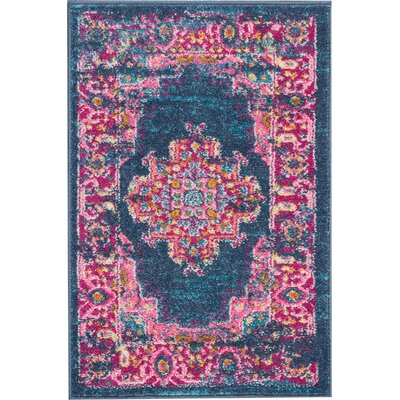 Wiggins Blue Area Rug Rug Size: Rectangle 110 x 210