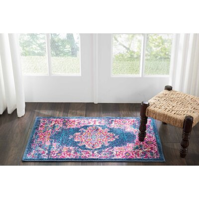 Dorset Blue Area Rug Rug Size: Rectangle 110 x 210