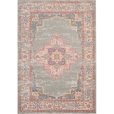 Wiggins Gray Area Rug Rug Size: Rectangle 67 x 96