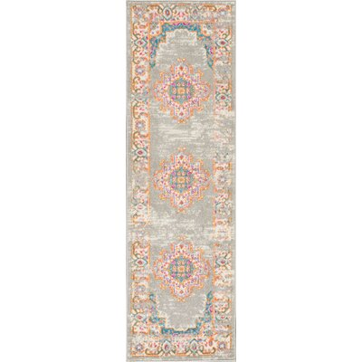 Wiggins Gray Area Rug Rug Size: Runner 11 x 6