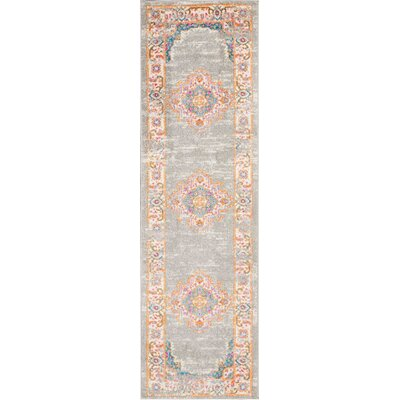 Wiggins Gray Area Rug Rug Size: Runner 22 x 76