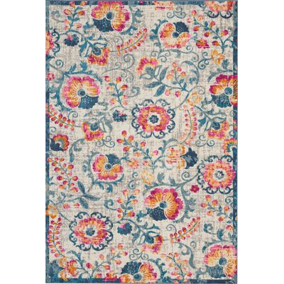 Wiggins Ivory Area Rug Rug Size: Rectangle 67 x 96