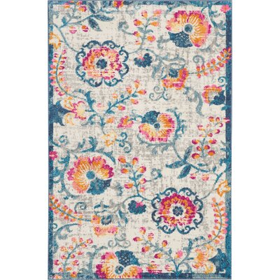 Wiggins Ivory Area Rug Rug Size: Rectangle 39 x 59