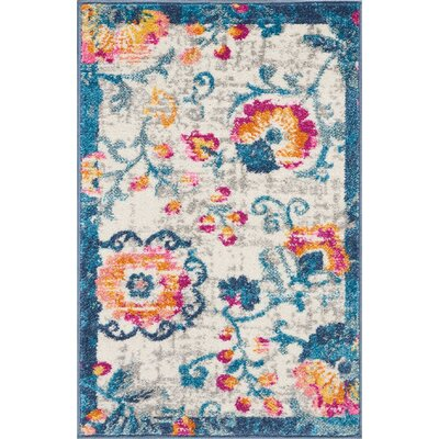 Wiggins Ivory Area Rug Rug Size: Rectangle 110 x 210