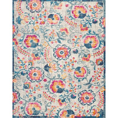Wiggins Ivory Area Rug Rug Size: Rectangle 8 x 10