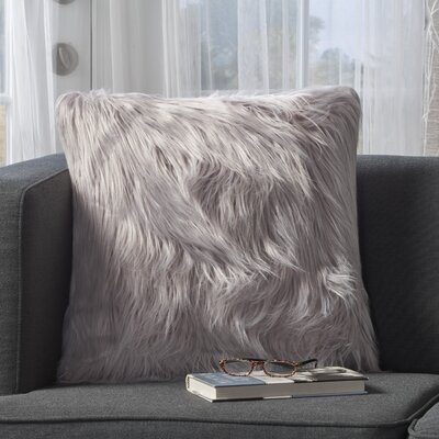 Milagro Faux Fur Square Throw Pillow Color: Lavender