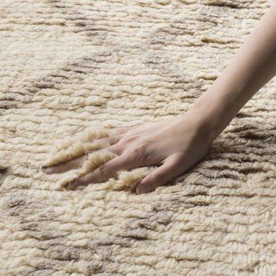 Livingston Hand-Tufted Beige Area Rug Rug Size: Rectangle 6 x 9
