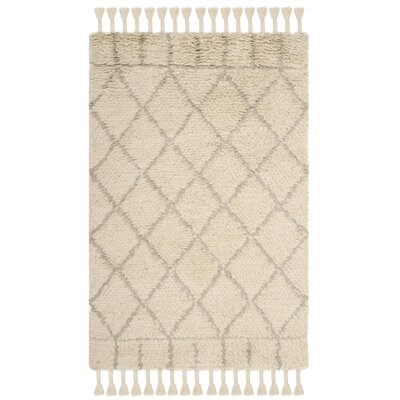 Livingston Hand-Tufted Beige Area Rug Rug Size: Rectangle 4 x 6