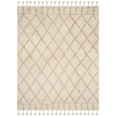 Livingston Hand-Tufted Beige Area Rug Rug Size: Rectangle 8 x 10