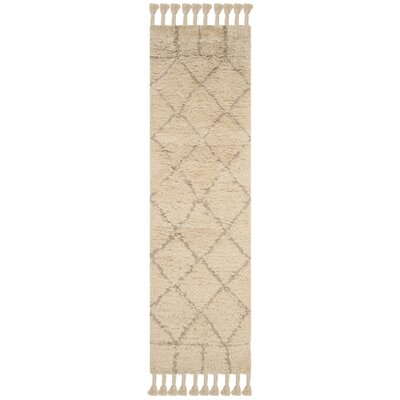 Livingston Hand-Tufted Beige Area Rug Rug Size: Runner 23 x 8