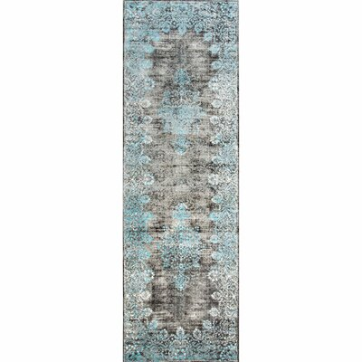 David Blue Area Rug Rug Size: Runner 26 x 8