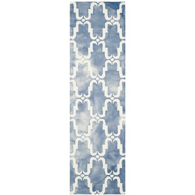 Laguna Hand-Tufted Blue/Ivory Area Rug Rug Size: Runner 23 x 8