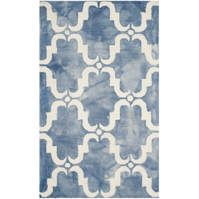 Laguna Hand-Tufted Blue/Ivory Area Rug Rug Size: Rectangle 3 x 5