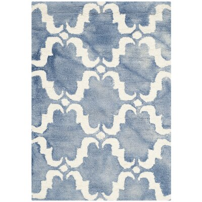 Laguna Hand-Tufted Blue/Ivory Area Rug Rug Size: Rectangle 2 x 3