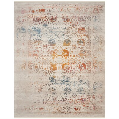 Luca Light Gray Area Rug Rug Size: Rectangle 8 x 10