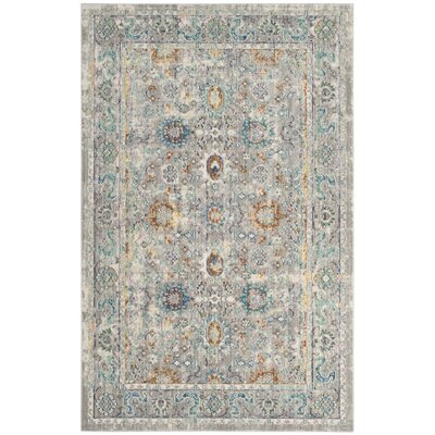 Lulu Gray/Multi Area Rug Rug Size: Rectangle 4 x 6