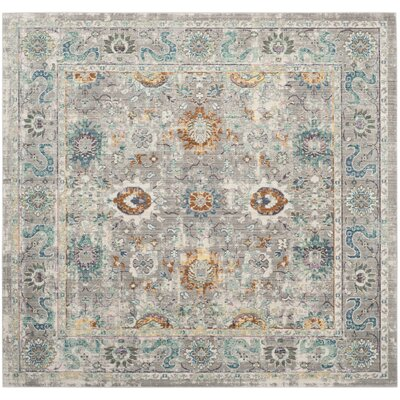 Lulu Gray/Multi Area Rug Rug Size: Square 67