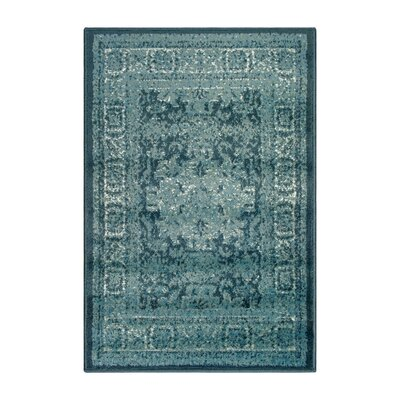 Schuttrange Teal Area Rug Rug Size: Rectangle 2 x 3
