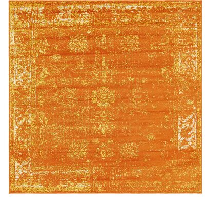 Brandt Orange Area Rug Rug Size: Square 6