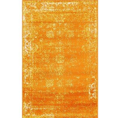 Brandt Orange Area Rug Rug Size: Rectangle 33 x 53