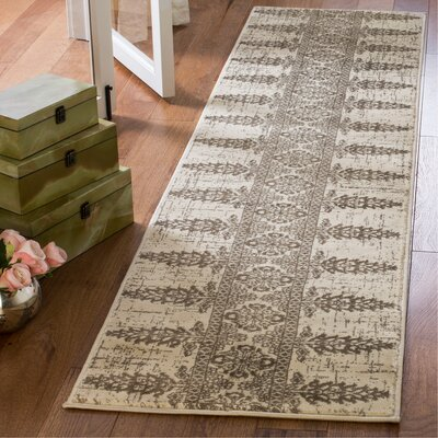 Elson Ivory/Silver Area Rug Rug Size: Runner 2 x 8