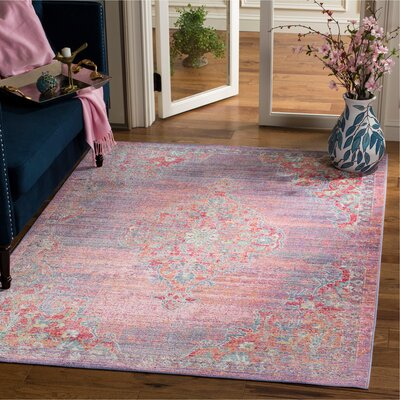 Bangou Lavender/Fuchsia Area Rug Rug Size: Rectangle 5 x 7