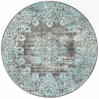 David Blue Area Rug Rug Size: Round 8