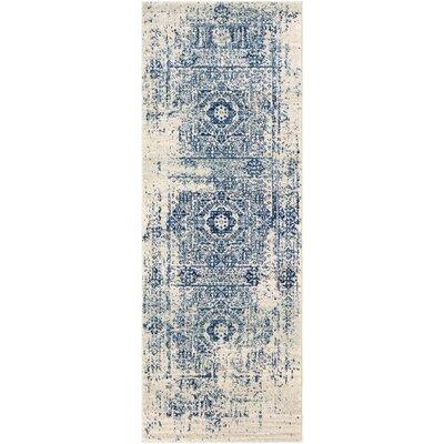 Hillsby Blue/Beige Area Rug Rug Size: Runner 27 x 73