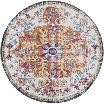 Hillsby Saffron Area Rug Rug Size: Round 710
