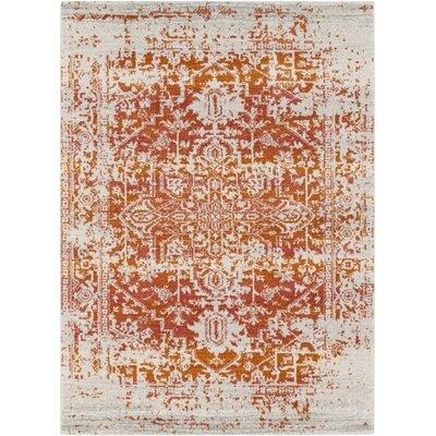Hillsby Orange/Beige Area Rug Rug Size: Rectangle 53 x 73