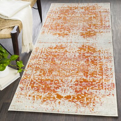 Hillsby Orange/Beige Area Rug Rug Size: Runner 27 x 73